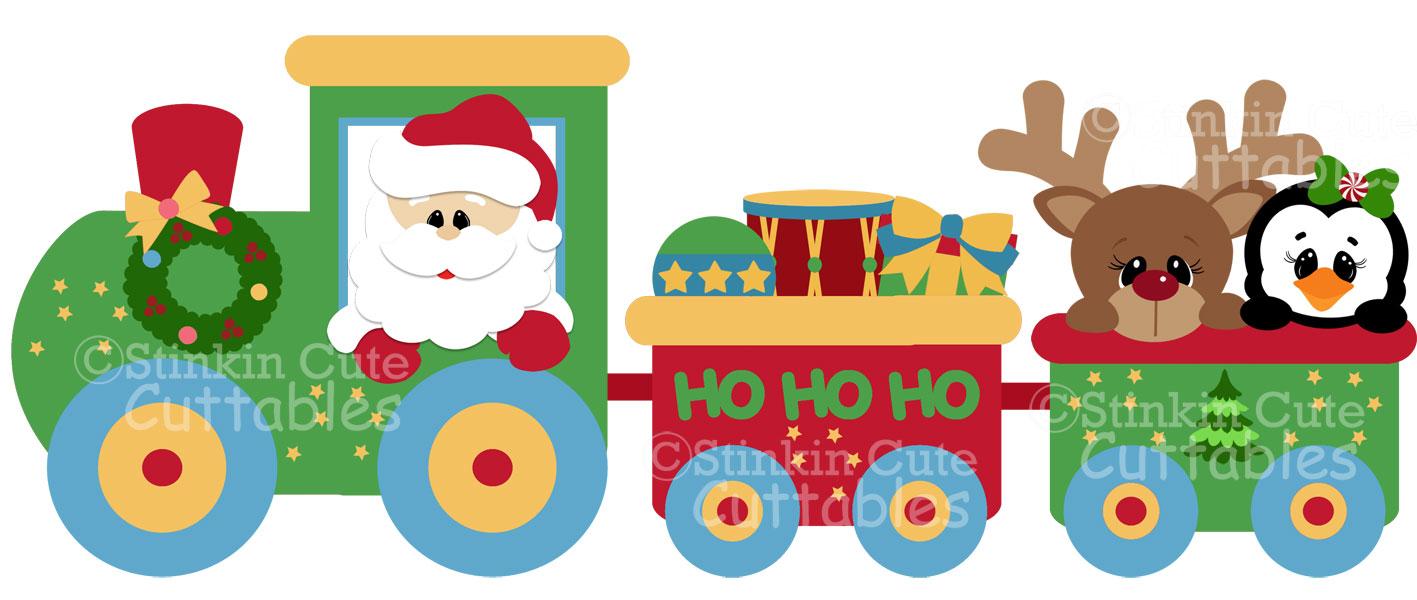 Christmas Train Clipart.