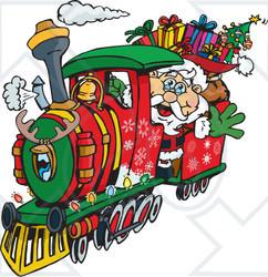 Clipart santa train.