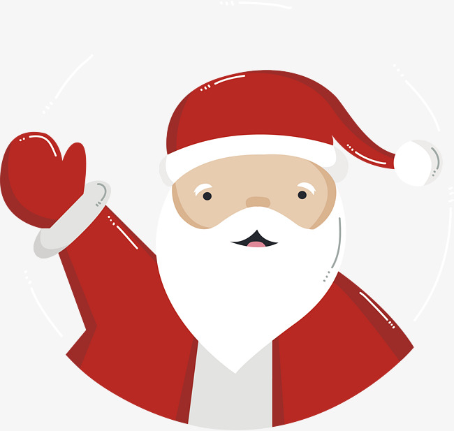 Greeting Santa Claus, Vector Png, Christ #158105.