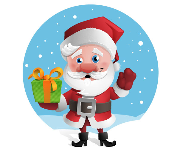 Free Santa Claus Vector Character.
