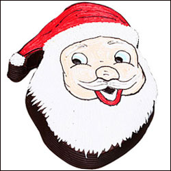Santa Claus Face Cake to Hyderabad,Chennai,Banglore,India.