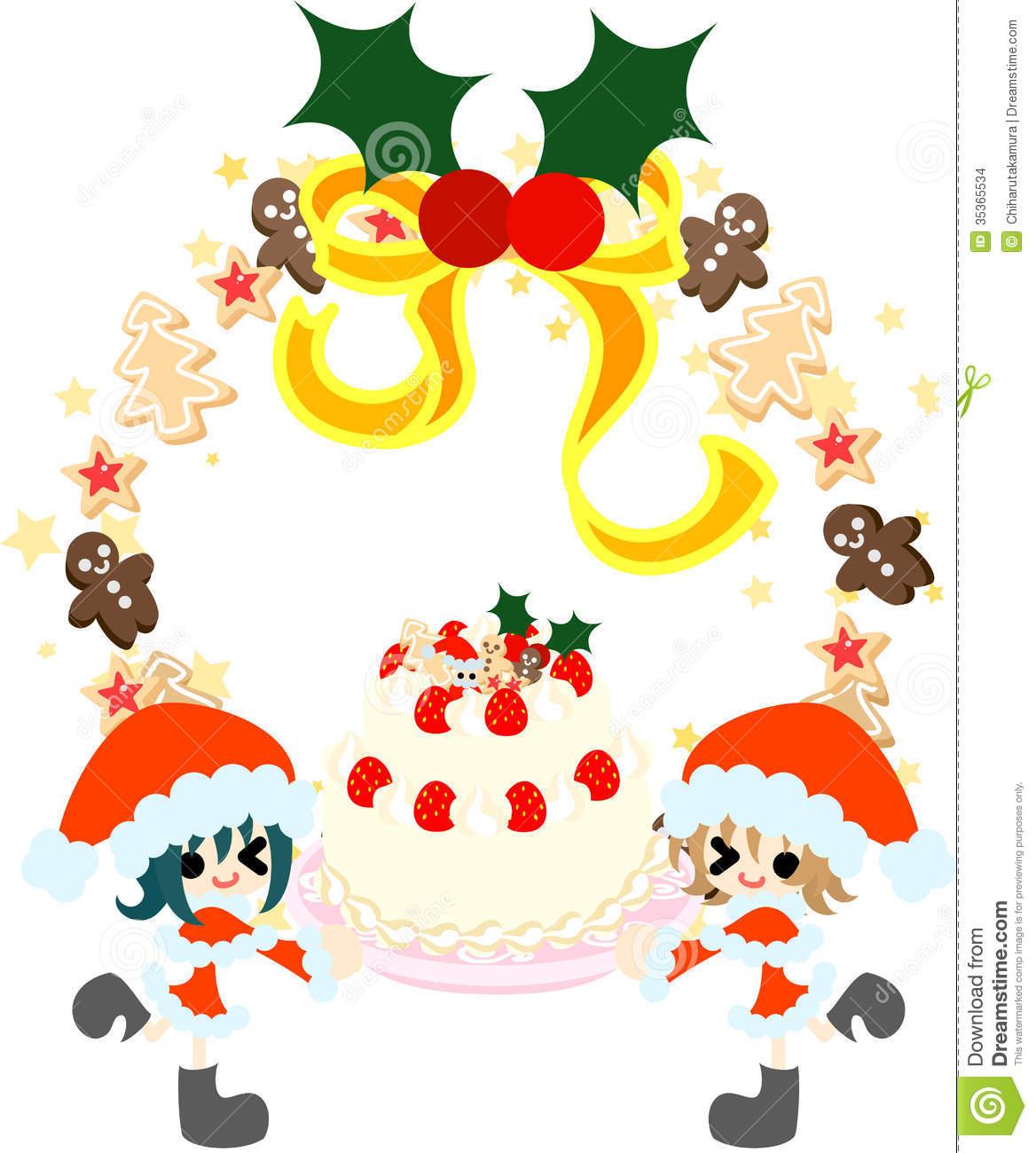 A Big Christmas Cake. Stock Images.