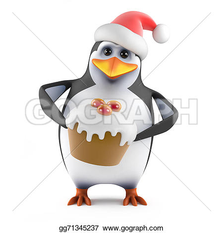 santa claus with cake clipart #15