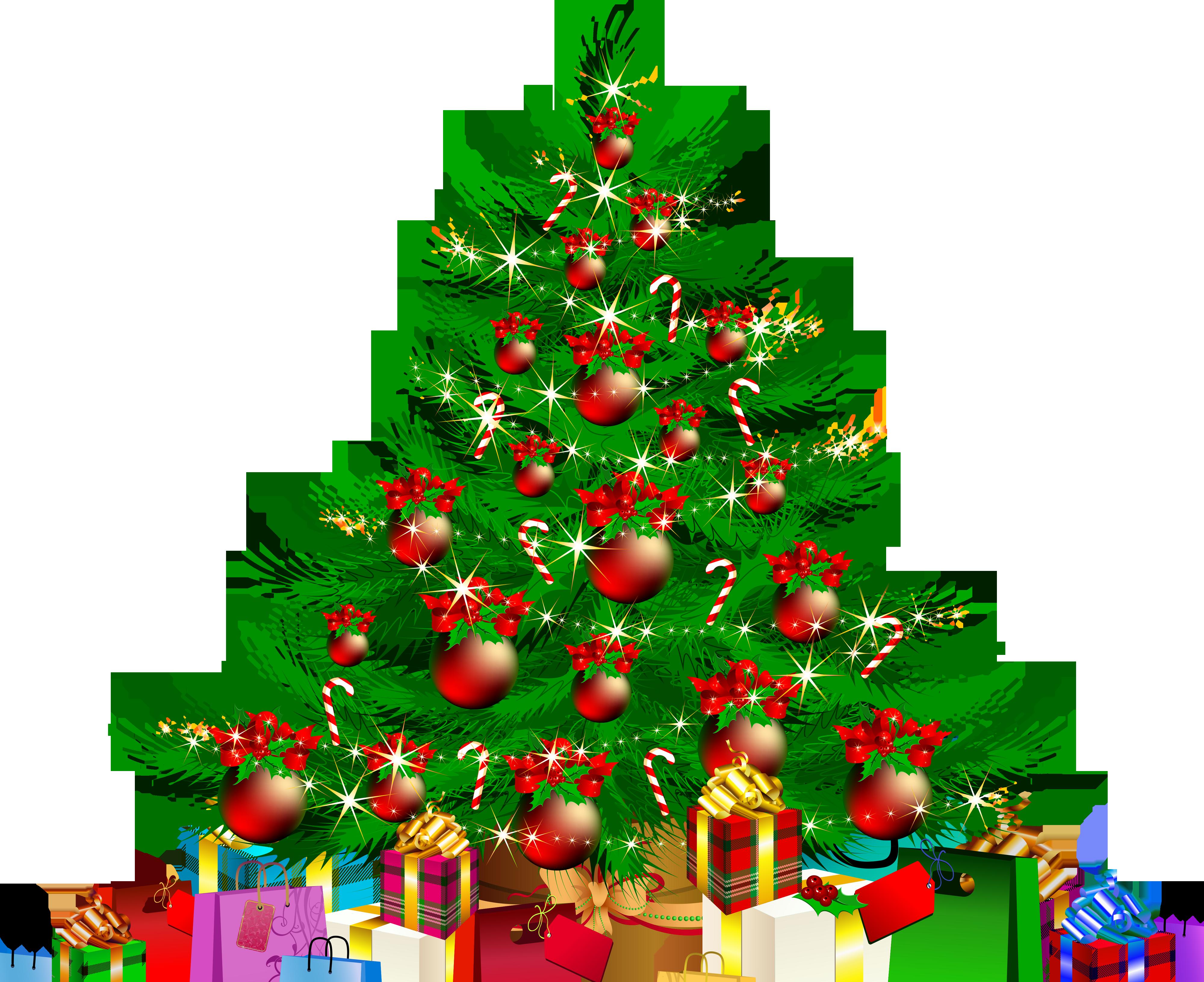 Christmas tree Santa Claus Gift Clip art.