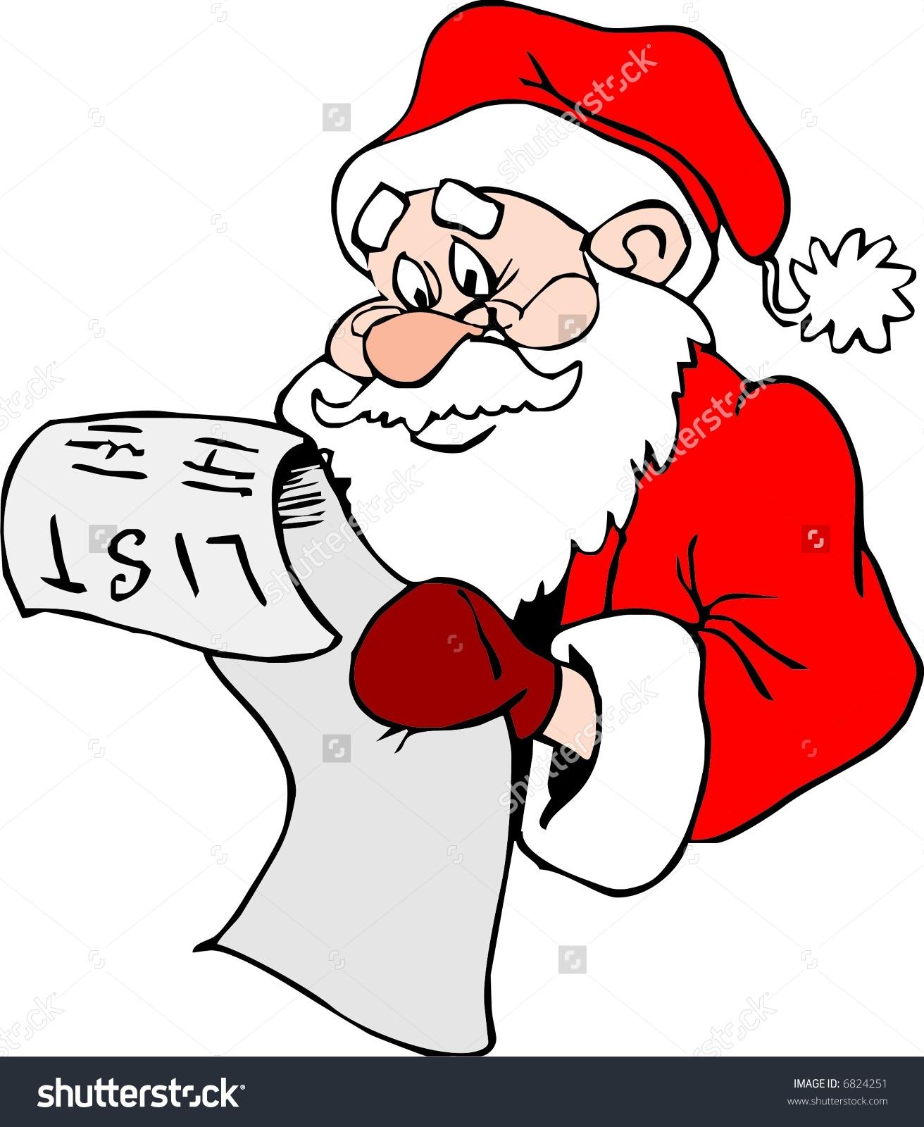 Santa Claus List Stock Vector 6824251.