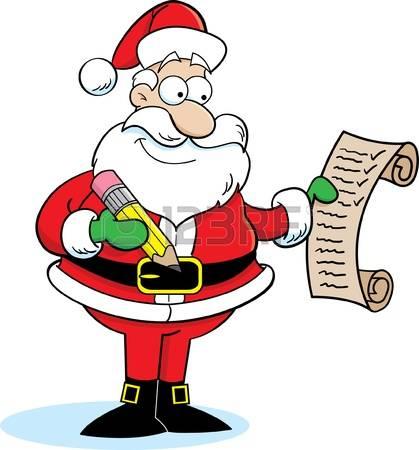 1,597 Santa List Stock Illustrations, Cliparts And Royalty Free.