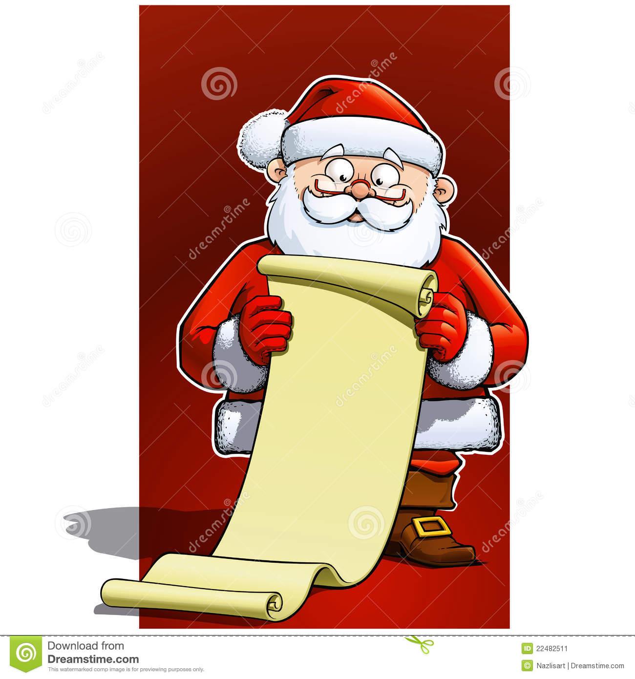 Santa Claus Gift List Stock Photos.