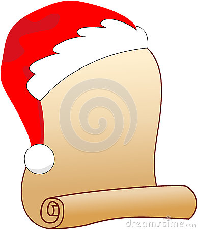 Santa Claus Wish List Royalty Free Stock Image.