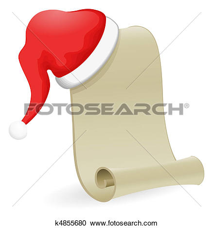 Stock Illustration of Santa Claus wish list k1598545.
