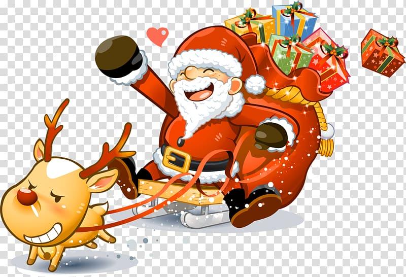 Santa Claus Reindeer Christmas , Santa Claus transparent.