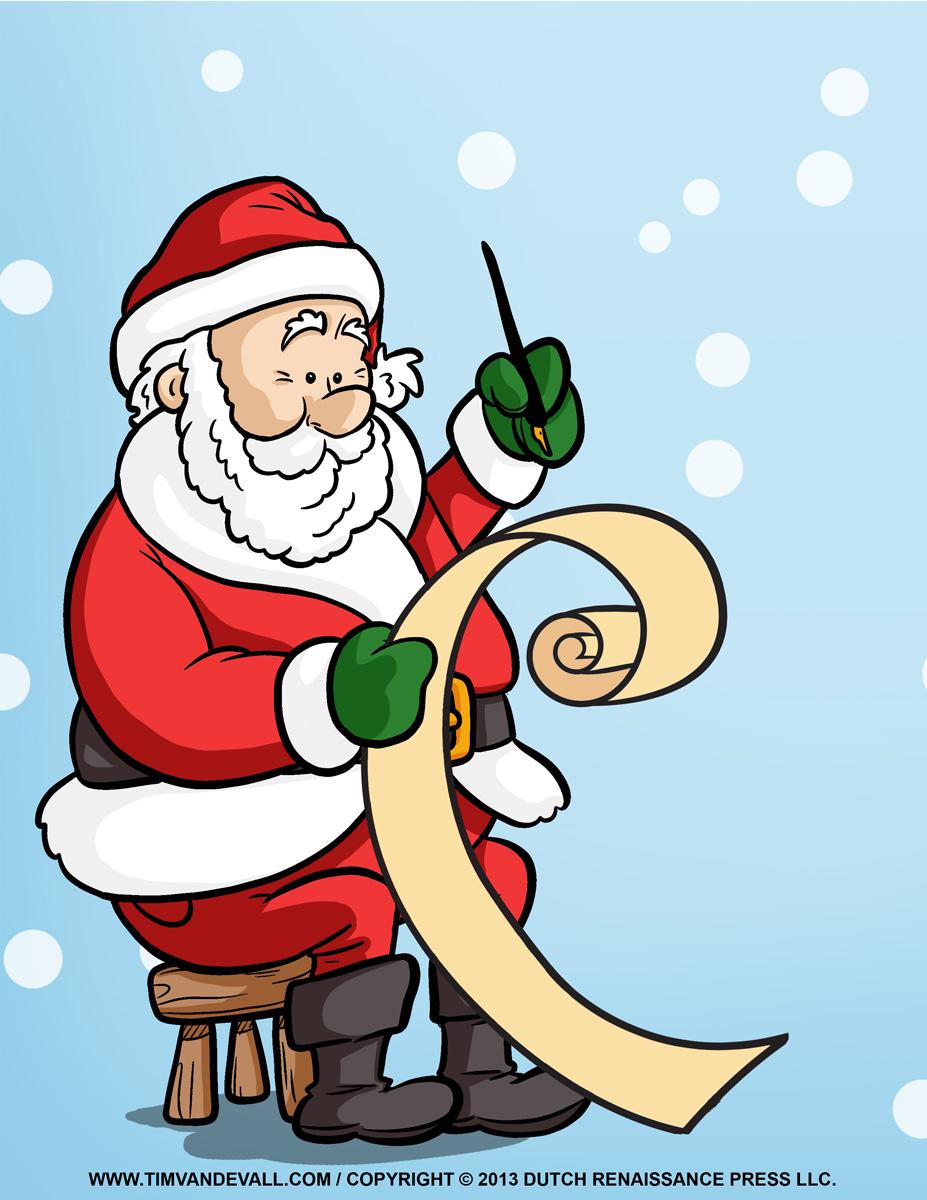 Santa claus workshop clipart