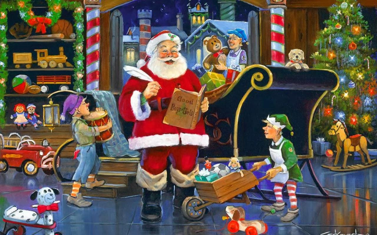 Santa claus workshop clipart - Clipground
