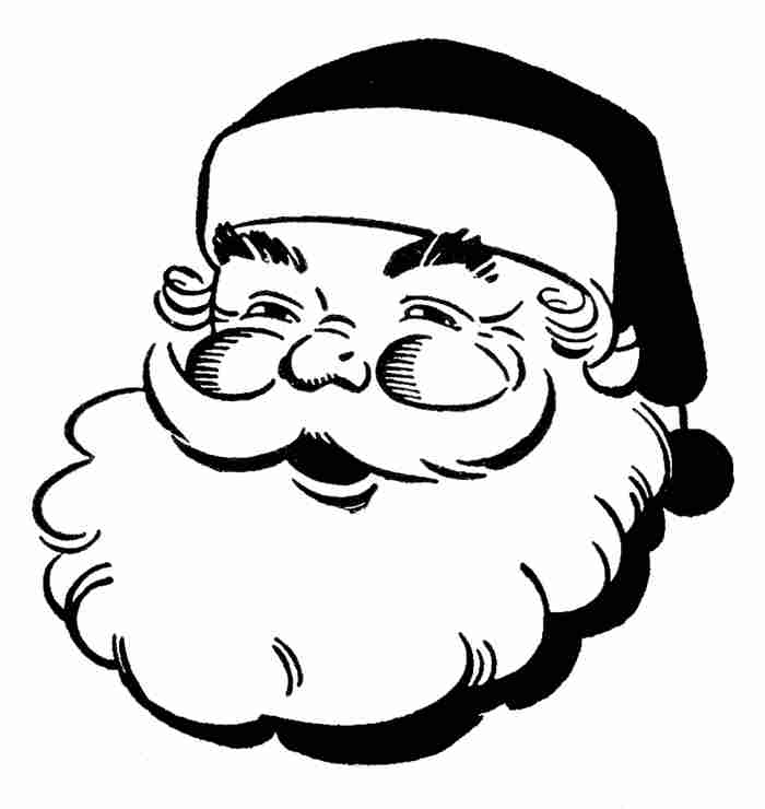83+ Santa Clipart Black And White.