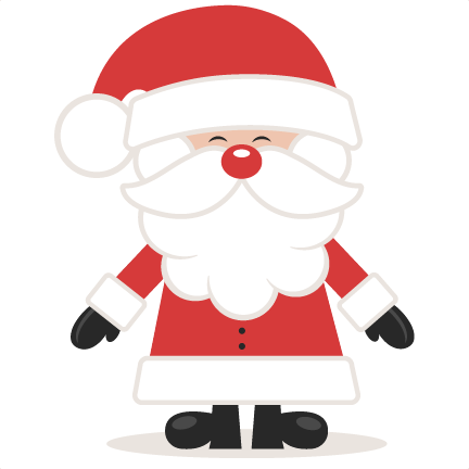 Cute Santa SVG scrapbook cut file cute clipart files for.