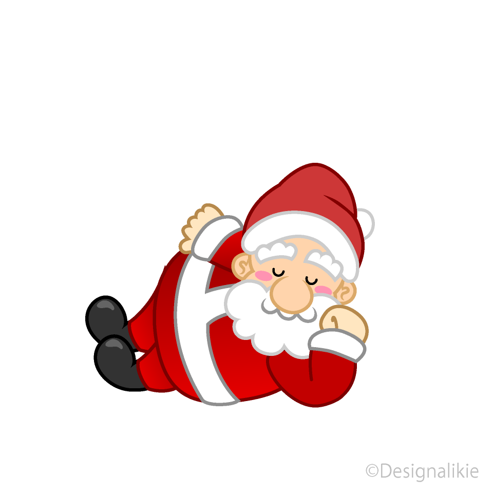 Sleeping Santa Clipart Free Picture|Illustoon.