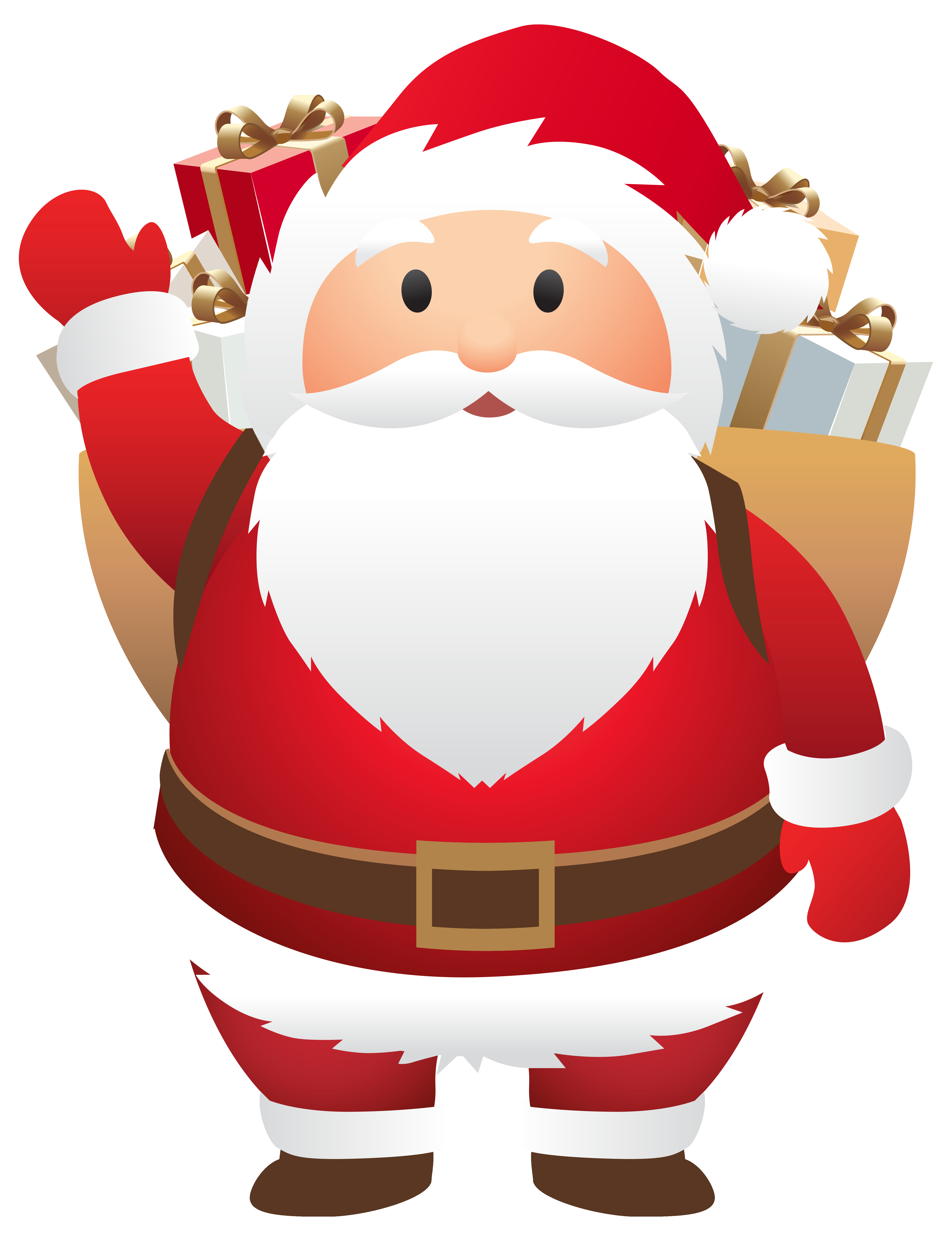 Cute Santa PNG Clipart Image.