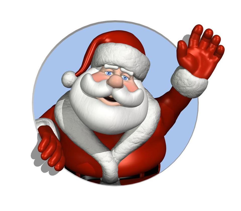 Santa clip art free printable clipart images 3.