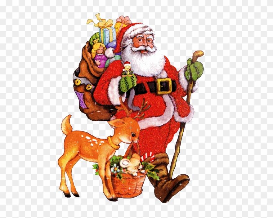 Christmas Santa Gifts Gif Clipart (#1247723).
