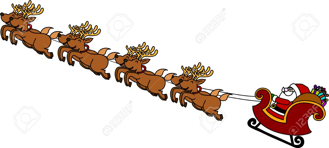 Showing post & media for Cartoon reindeer and sled.