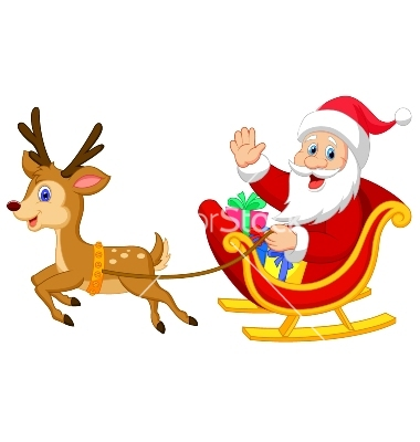 Showing post & media for Cartoon santa and sleigh flying.
