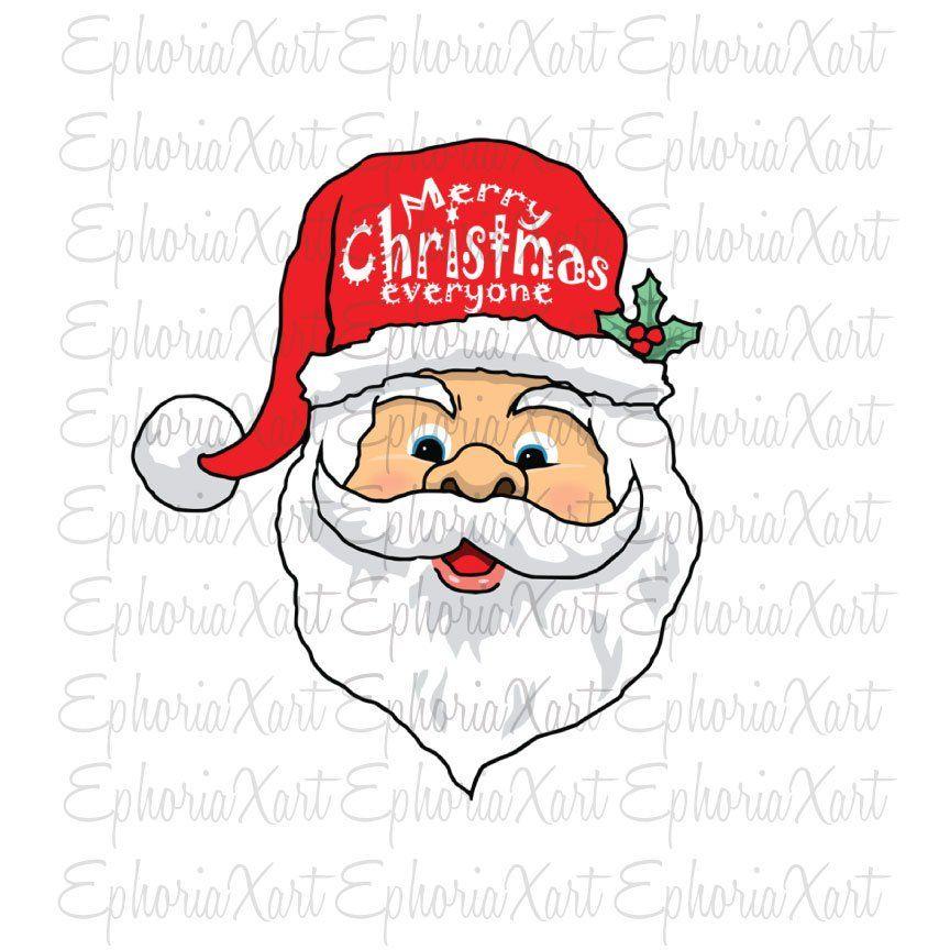 Santa face PNG ,santa clipart,merry christmas : christmas.