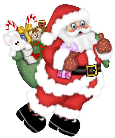 Walking Santa Claus PNG Clipart.