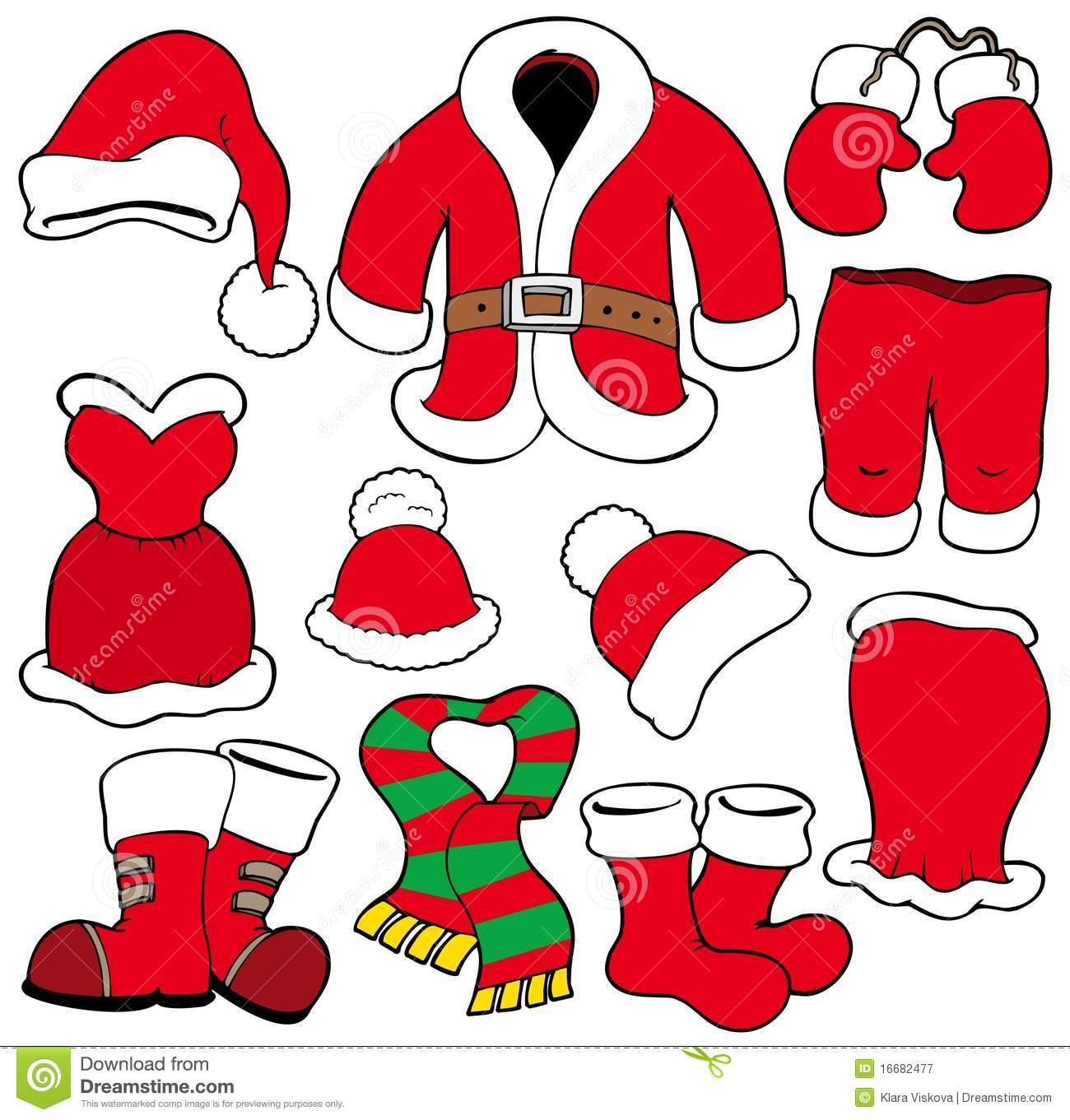 Christmas Santa Coat Clipart.