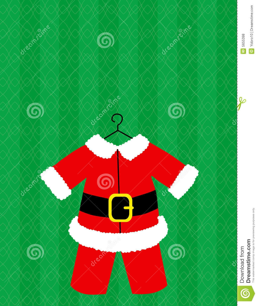 Santa claus suit clipart.