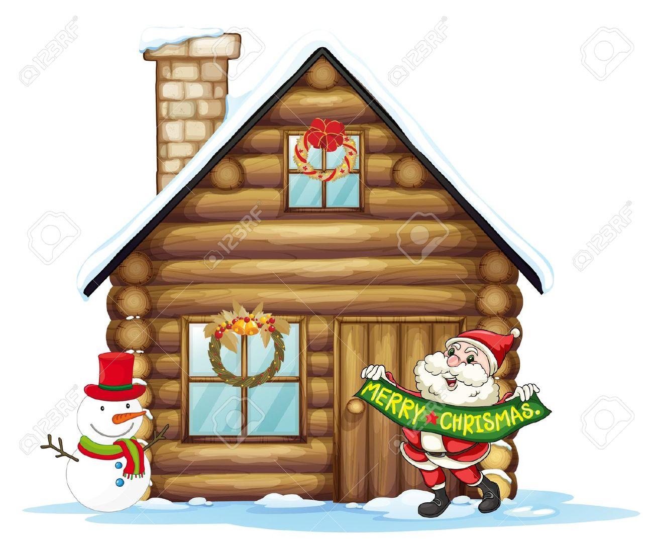 4,372 Santas House Stock Vector Illustration And Royalty Free.