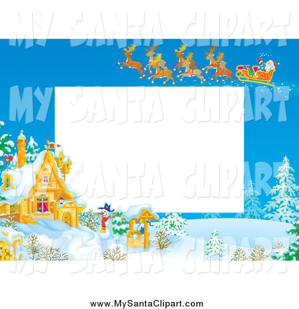 Santa Cottage Clipart.
