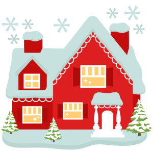 Santa House Clipart.