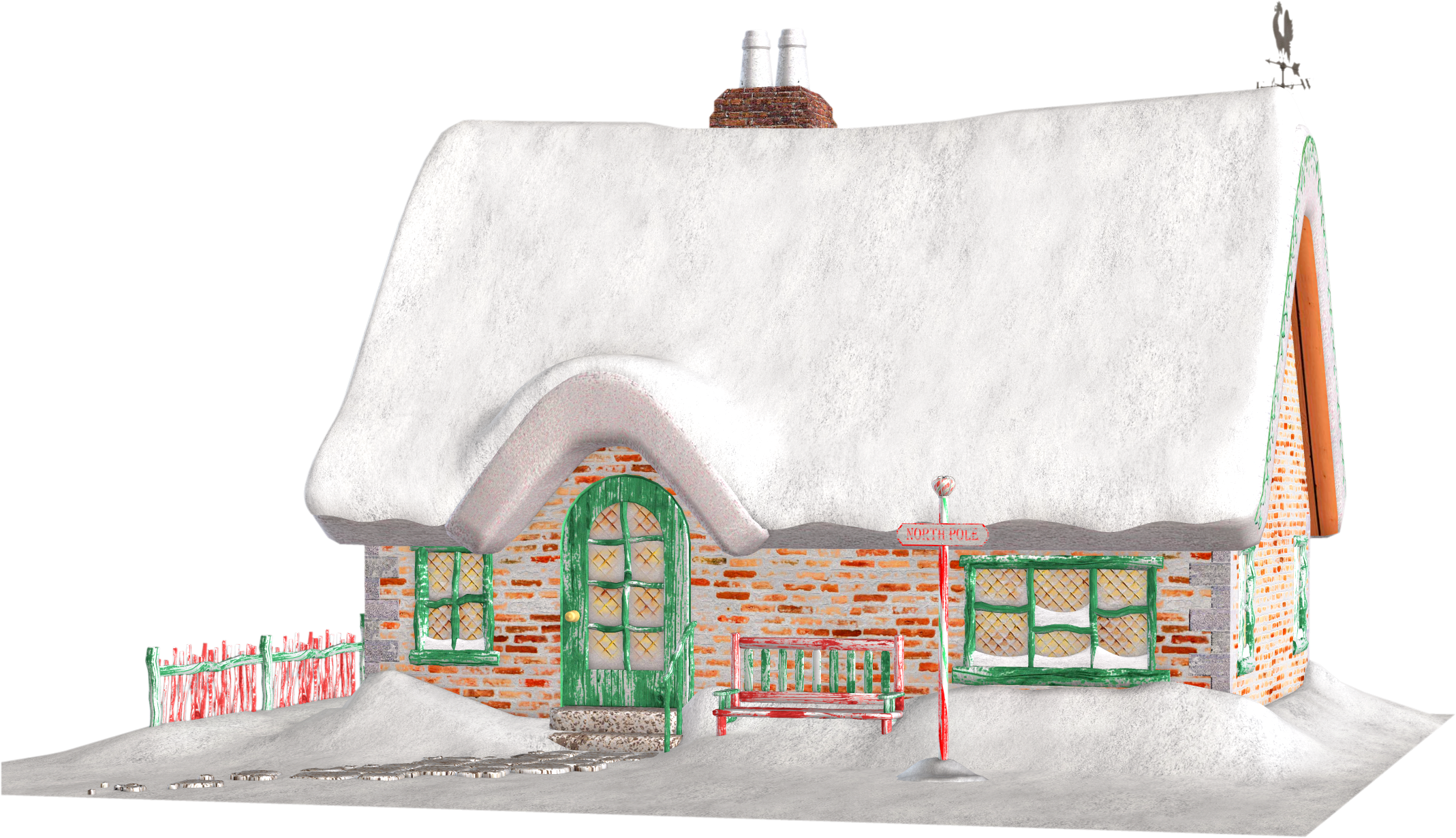 Santa's Cottage Free Clipart.