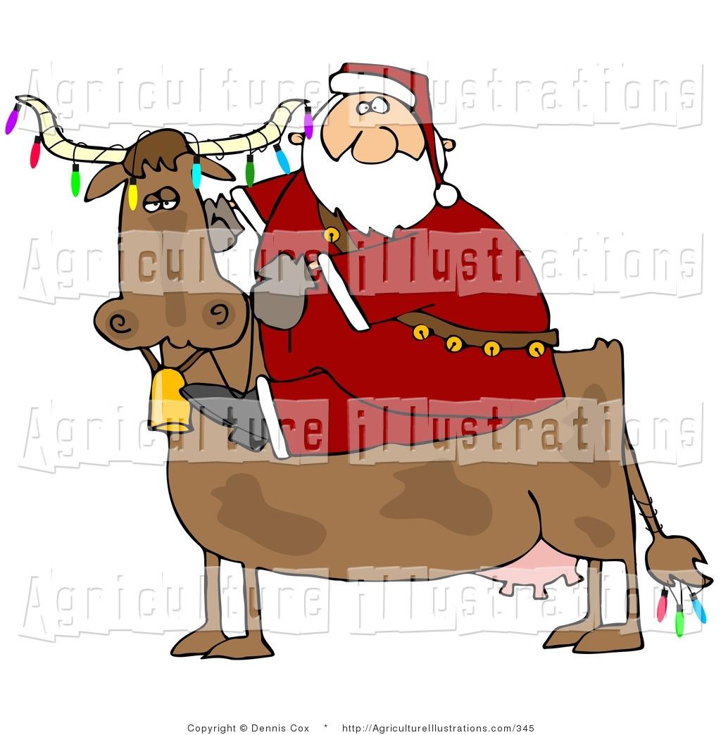 Similiar Santa Claus Cow Keywords.