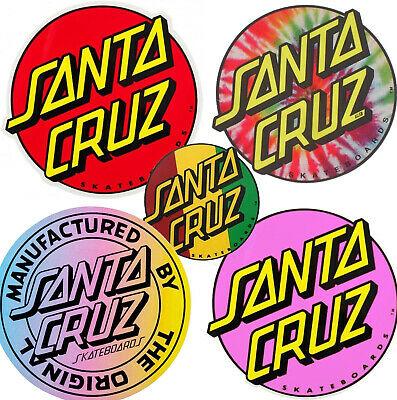 SANTA CRUZ Dot Logo Sticker / Skateboard Snowboard Surf.