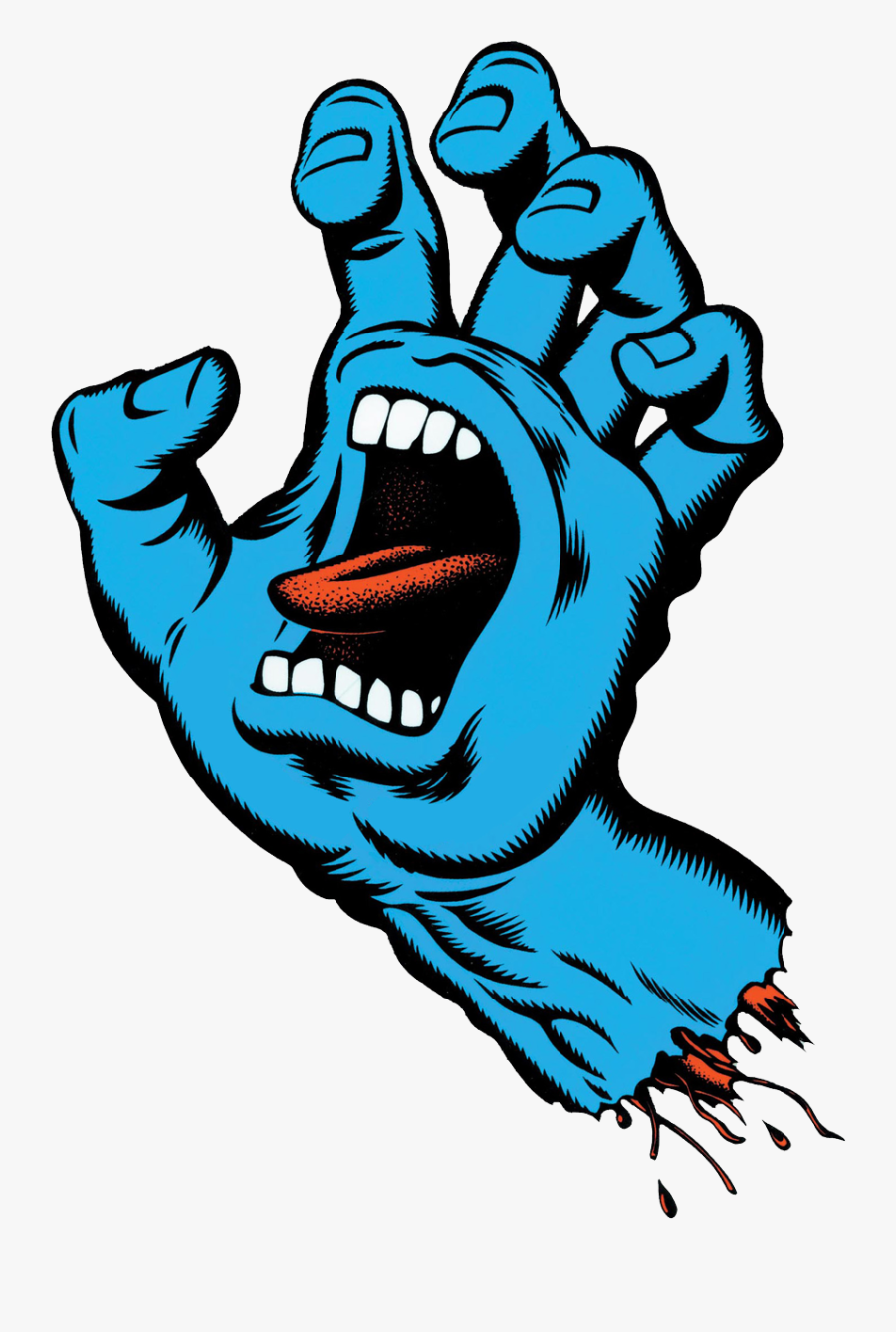 Santa Cruz Screaming Hand Logo Clipart , Png Download.