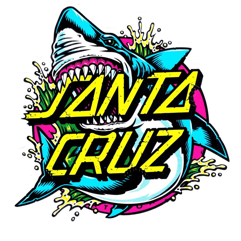 Santa Cruz Shark Dot Sticker 5\