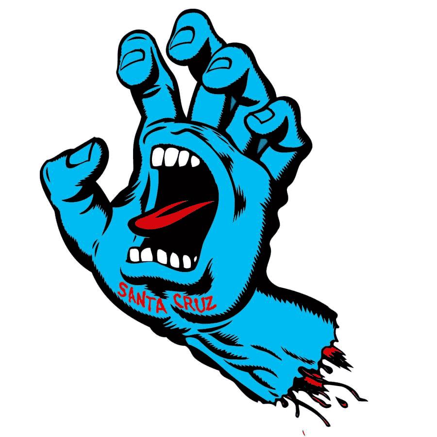 Santa Cruz Screaming Hand Sticker 5\
