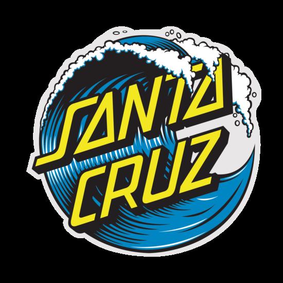 Santa Cruz Wave Dot Sticker 3 inch.