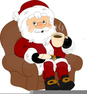 Santa Drink Clipart.