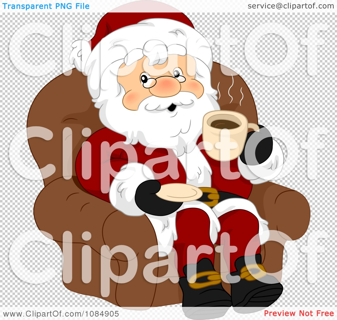 Showing post & media for Cartoon santa drinking coffee.