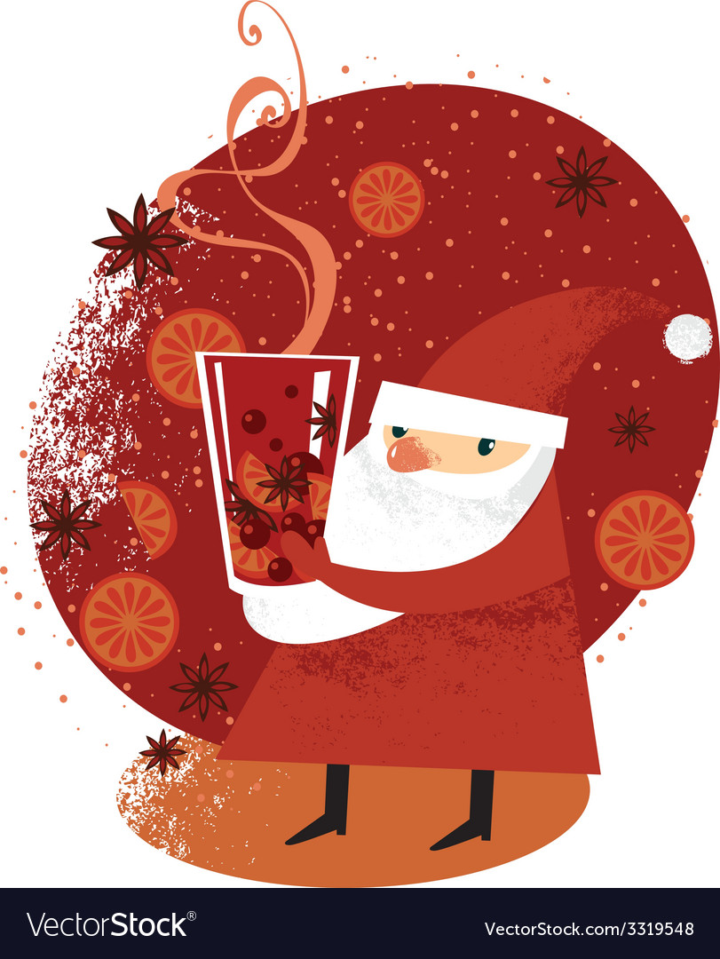 Santa with mulled wine.