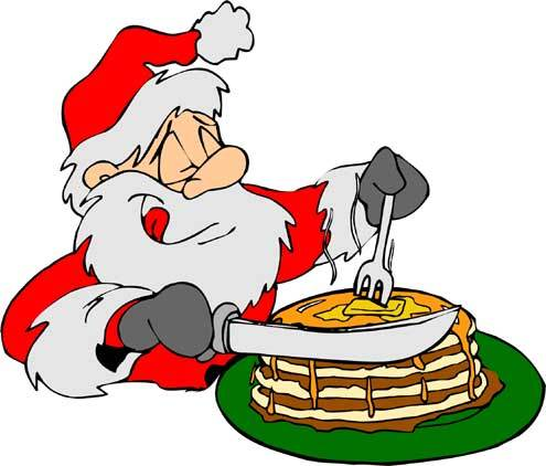 Santa eating breakfast clipart » Clipart Portal.