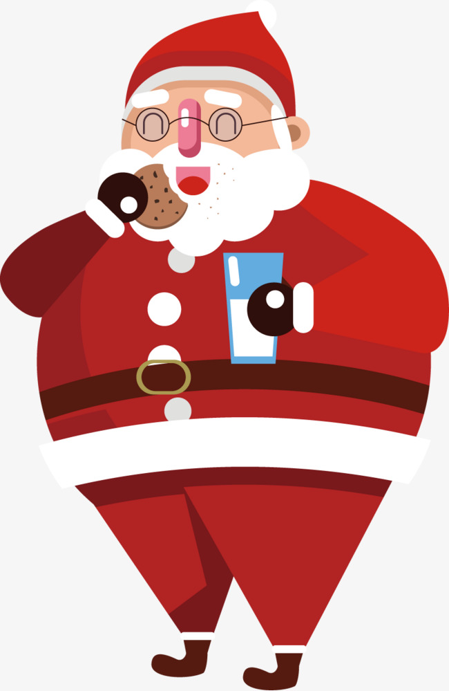 Santa Eating Cookies Png & Free Santa Eating Cookies.png.