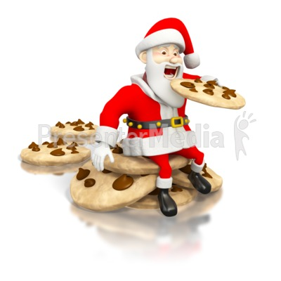 Santa Eating Cookies.
