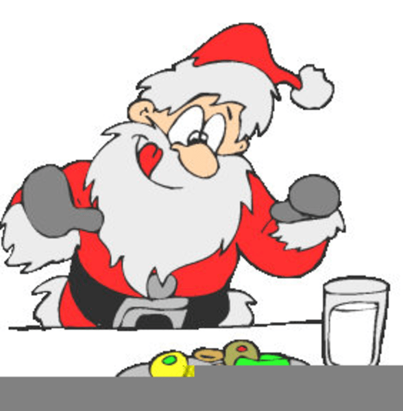 Santa eating cookies clipart » Clipart Portal.