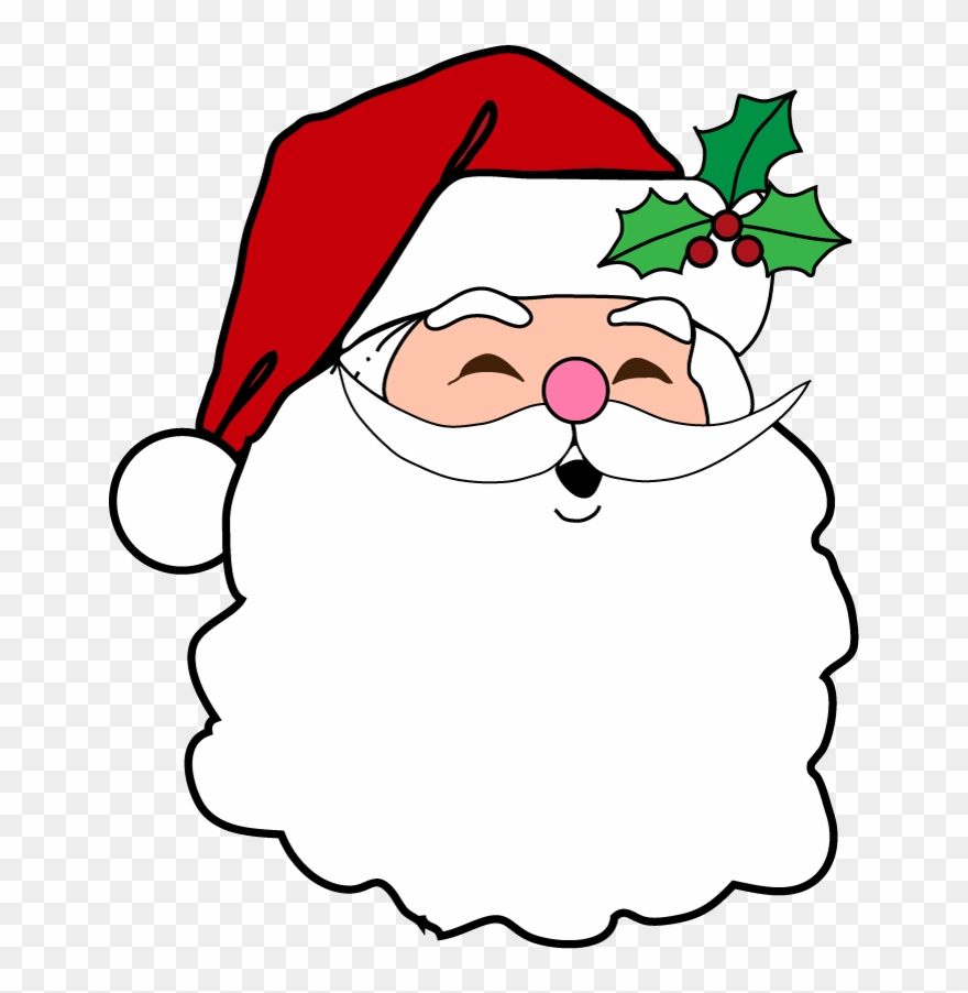 Christmas Santa Face Transparent Images.