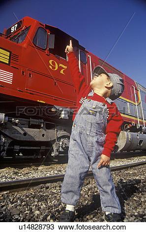 Santa Fe Diesels Train Clipart.