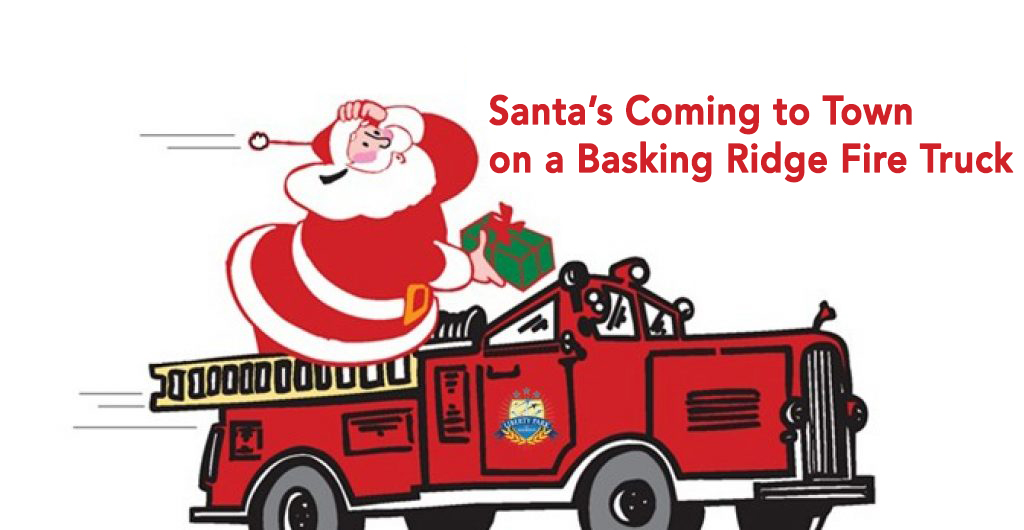 Santa will deliver gifts on a fire truck!.