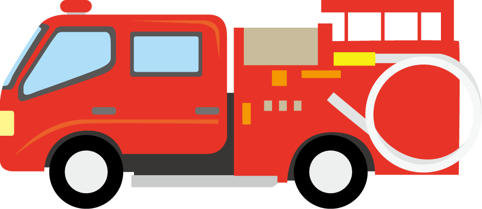 Santa on fire truck clipart.