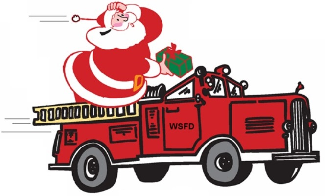 Santa on a Fire Truck presented by City of West Sacramento.